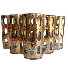 Image of Vintage Culver Pisa Glasses - Set of 6