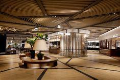 Mall Design, Lobby Design, Shop Front Design, Store Design, Open Ceiling, Ceiling Light Design, Shopping Mall Interior, Mix Use Building, Aquarium Design