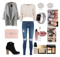 """""""My outfit"""" by jasmina-burberry on Polyvore featuring Current/Elliott, Alexander McQueen, River Island, Givenchy, Bobbi Brown Cosmetics, Burberry, women's clothing, women, female and woman"""