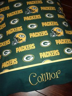 Personalized Green Bay Packers Pillowcases by debbierofstad, $18.00