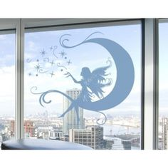 Style and Apply Moon Fairy Window Glass Decal Wall Art Home Decor