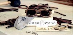 """Good Wood: """"419"""" Eyewear by The ICU. These glasses are handcrafted in Brooklyn with the highest quality components available. The """"419″ features; Walnut construction, UV protected lenses, and Italian hardware. The whole collection comes with a custom wooden box, and a custom Good Wood drawstring microfiber pouch."""