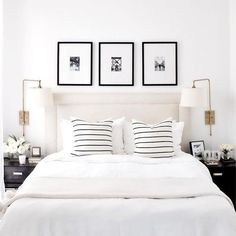 Fabulous White Bedroom Design In The Small Apartment 47 Minimalist Bedding Sets, Bedroom Minimalist, Minimalist Apartment, Romantic Bedroom Decor, Home Decor Bedroom, Bedroom Furniture, Bedroom Ideas, Bedroom Designs, Kids Bedroom