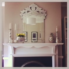 my old living room - Farrow and Ball elephants breath on the walls