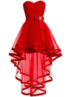 Homecoming Dress,High Low Homecoming Dresses,Red Homecoming Gowns,Sweet 16