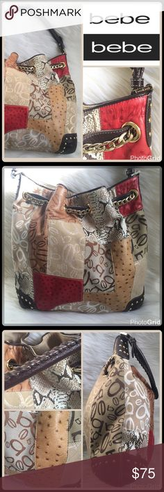 VTG PATCHWORK BUCKET HANDBAG Combination Leather and Signature Fabric Patchwork Pebbled Leather Gold Studded Details Single strap whip stitch detail Gold Chain/Leather Drawstring Interior signature lining Large: H 13 inches x L 15 inches x D 5 inches - Strap Drop 9.5 inches   2+ BUNDLE=SAVE  ‼️NO TRADES--NO HOLDS--NO MODELING   Brand Authentic  ✈️ Ship Same Day--Purchase By 2PM PST   USE BLUE OFFER BUTTON TO NEGOTIATE   ✔️ Ask Questions Not Answered In Description--Want You to be happy…