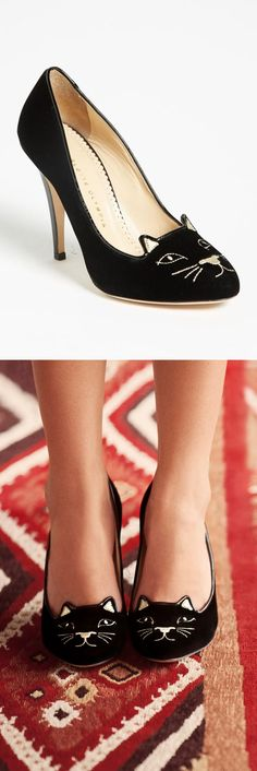 Kitten pumps // What?! So cute! #cat_heels