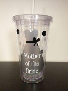 Mother of the Bride Wedding Personalized 16oz Acrylic Tumbler on Etsy, $12.00