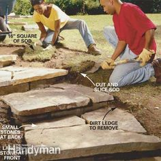 Steps to Landscape a Yard | Step 5: Blend the steps into the landscape. (This is a very helpful site)