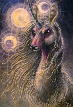Lunacorn by ~Spyrre on deviantART- I really like this person's art; aesthetically plus their mix of symbology and fantasy.