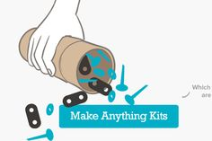 Makedo.com: Kits to turn recycled packaging into anything - doll houses, cars, airplanes... Best for kids 5+ (under 7 is best with adult help). $20+ but reasonable.