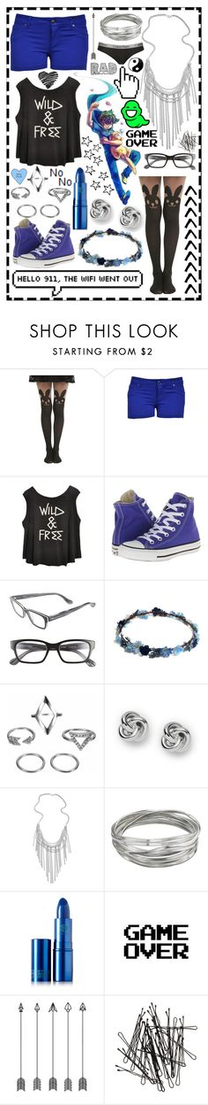 """""""John Egbert"""" by cupa1213 ❤ liked on Polyvore featuring Converse, Corinne McCormack, FOSSIL, Kendra Scott, Whistles, Lipstick Queen, Microsoft, WALL, H&M and Calvin Klein Underwear"""