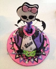 I made this Monster High doll cake for a wonderful 7 year old who loves Monster High.  I am not a big planner when it comes to designing my cakes. I...