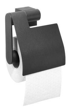 De toiletrolhouder met klep van Nomad is er in de kleuren zwart en chroom. Dit product kan worden geschroefd, maar kan ook met Tigerfix 2 op een gladde en stevige ondergrond geplakt worden. U hoeft dus niet te boren. (Tigerfix is los leverbaar). Kijk ook eens naar de andere accessoires uit deze serie