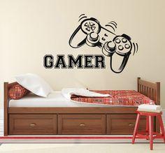 Gamer pared calcomanía controladores de juego juego por WallxDecal