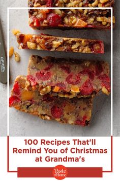 100 Recipes That'll Remind You of Christmas at Grandma's Christmas Foods, Christmas Recipes, Christmas Time, Holiday, Sandwiches, Good Food, Treats, Make It Yourself, Desserts