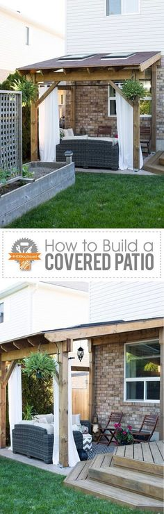 Covered deck roof designs patio cover plans house for Shed roof covered porch