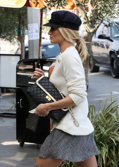 Rosie Huntington-Whiteley Chanel Bicolor Flap Bag