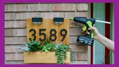 Join Vicki & Steph from Mother Daughter Projects as they make house numbers complete with solar dusk to dawn lights for Vicki's House! Mother Daughter Projects, House Address Sign, Dusk To Dawn, Find Work, House Numbers, Seeds, The Creator, Homes, Make It Yourself