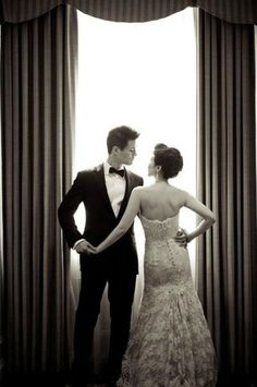 This couple exudes classic wedding glamour | Caroline Tran Photography
