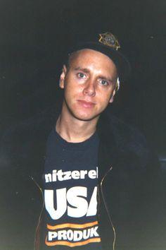 Martin in a Nitzer Ebb shirt ❤️❤️❤️