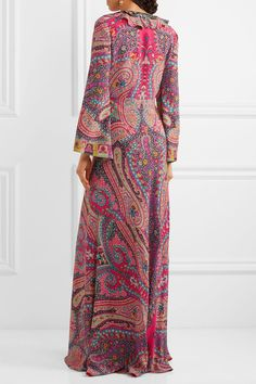 Etro - Sequin-embellished Paisley-print Silk Gown - Pink - IT46