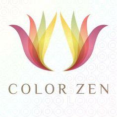 Color Zen Lotus Interiors logo Business Logo, Business Card Design, Spiritual Logo, Logo Fleur, Zen, Lotus Logo, Sign Fonts, Interior Logo, Mandala