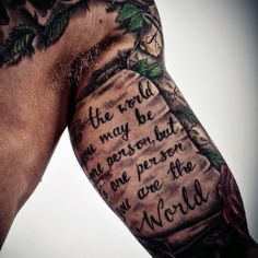 Quote Tattoos On Arm For Men
