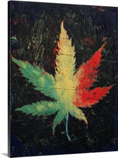 0ef74839fd Michael Creese Premium Thick-Wrap Canvas Wall Art Print entitled Marijuana