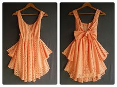 Coral cocktail dress.