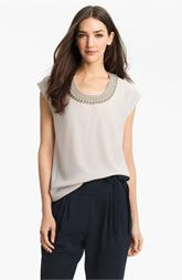 @$345, it's a necklace and tee combo perfect for dressing up/down  Diane von Furstenberg 'Acedia' Embellished Tee available at Nordstrom.