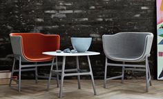 minuscule chair - 1.667$  Design Cecilie Manz, 2012 Reinforced plastic, upholstery Made in Denmark by Fritz Hansen