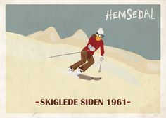 Poster Hemsedal, Norway. Color inspiration for Little TYkes school house.