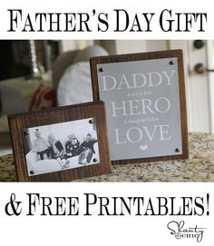 **Father's Day Gift and FREE Printables - choice of three colors for printable - plus complete instructions - Easy, inexpensive, but very thoughtful.