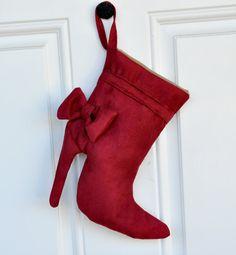 Christmas high heel stocking