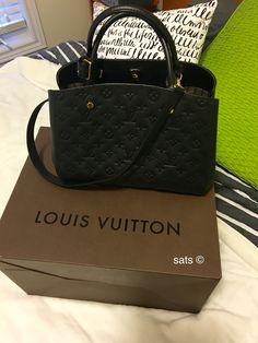 Louis Vuitton Montaigne MM noir empreinte #classic #timeless #daily