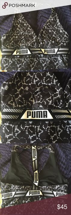 NWOT PUMA SPORTS BRA Brand new and good support for that training session, cycling or yoga class. Make an offer :) Puma Tops