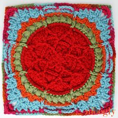 Moogly CAL 2018 Block 23 is a square to be grateful for! So a big thanks to Kirsten Holloway Designs - and Happy Thanksgiving! Get all the FREE square patterns on Moogly! Crochet Granny Square Afghan, Crochet Blocks, Granny Square Crochet Pattern, Crochet Squares, Crochet Motif, Crochet Designs, Free Crochet, Granny Granny, Crochet Cushions