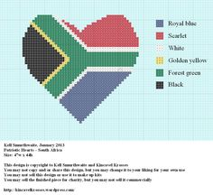 Patriotic heart - South Africa