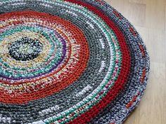 Gehäkelter Teppich