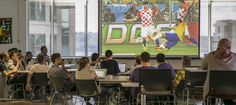 We're having fun watching the World Cup at the MozPlex!