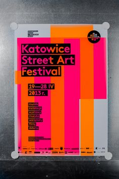 Katowice Street Art Festival – silkscreen poster series on Behance
