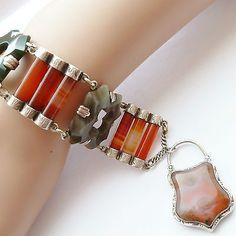 Beautiful Victorian dyed horn cuff panel bracelet