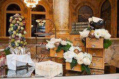 Hellooooo, lovely card catalog!!  -- This is the work of Andrea Halliday, owner of floral and event design company, Table & Tulip.