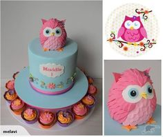 Fondant Ozy Owl Icing Cake Topper (not edible) | i dont't care if you cant eat it i want it!!!