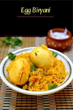 This Egg Biryani is an easy and delicious one pot meal for any weekend meal. How To Make Eggs, Meat Shop, Red Chili Powder, Biryani Recipe, Best Side Dishes, Egg Dish, Non Stick Pan, Garam Masala, One Pot Meals