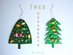 michele made me: Have Yourself a Merry Little Christmas Ornament #4 - Christmas tree ornament with pistachios