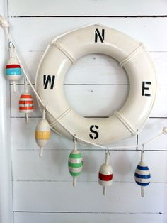 Wooden Buoys. Nautical Decor. Beach Cottage. By the Sea. Nautical Gift Ideas…