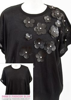 DIY Tutorial: Spice up an old top with leather flowers and beads