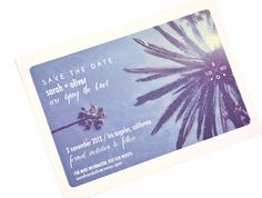 a california vintage postcard save the date | m.press cards